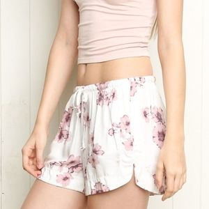 Brandy Melville Floral Eve Shorts